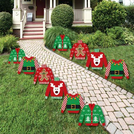 ugly sweater sweater lawn decorations outdoor holiday