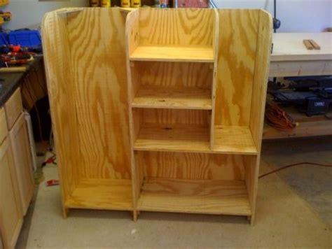 diy wood railing golf bag storage rack plans