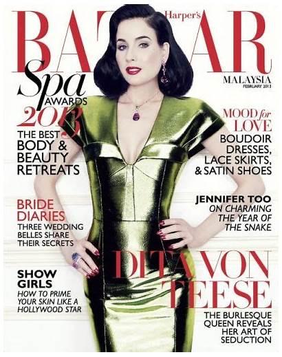 Teese Dita Harper Magazine Malaysia Bazaar Besuchen
