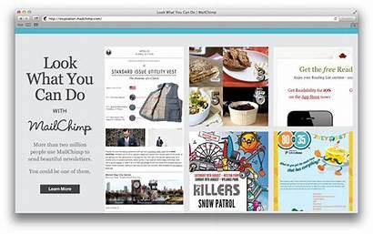 Mailchimp Inspiration Newsletter Enewsletter Resource