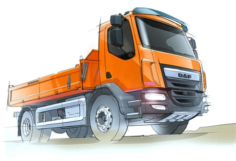 daf lf construction truck design sketch car body design