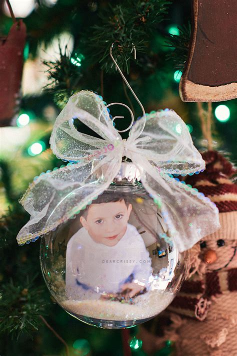 diy christmas photo ornament