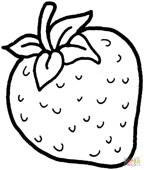 Coloring Strawberry sweet strawberry coloring page free printable coloring pages