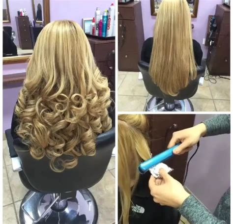 style hair with flat iron curl hair with less damage with the use of foil and a 3142