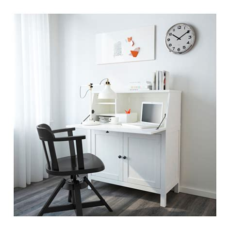 secretaire moderne bureau hemnes bureau white stain 89x108 cm ikea