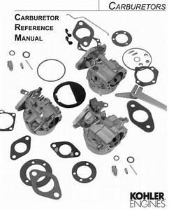 Engine Kohler Carburetor Reference  Tp-2377-e Pdf