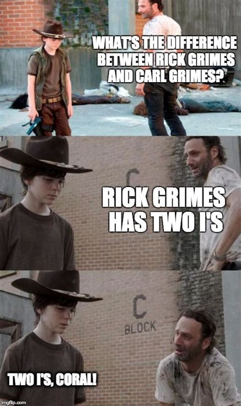 Rick And Carl Meme Rick And Carl 3 Meme What S The Difference Between Rick