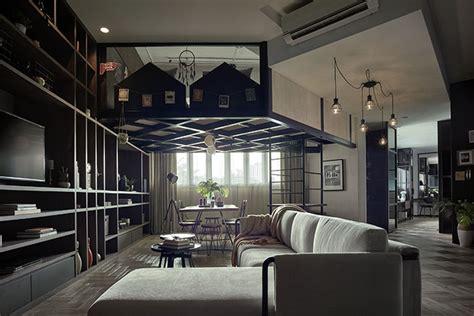 Loft Character by Impressive Open Concept Loft Design At Verve Suites Kl