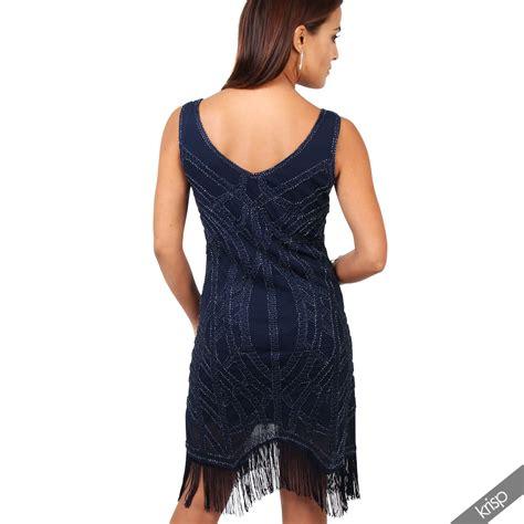 20er jahre kleid damen damen 20er jahre fransenkleid perlenbesetztes kleid mini silvester kost 252 m ebay