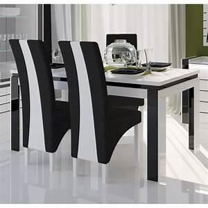 Chaise salle a manger noir et blanc for Meuble salle À manger avec chaise blanche et noir