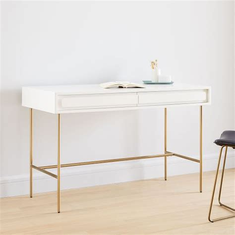 White Lacquer Desk by Gemini Desk White Lacquer West Elm