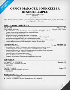 office manager bookkeeper resume samples across all With bookkeeper resume examples