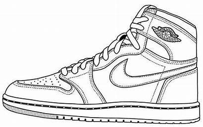 Jordan Coloring Pages Shoes Sneakers Jordans Air