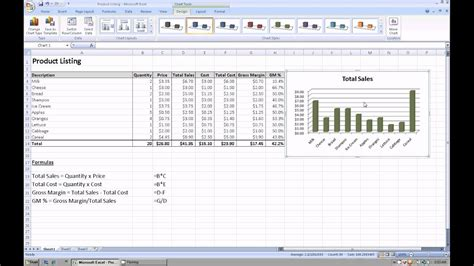 excel    create  graph  chart