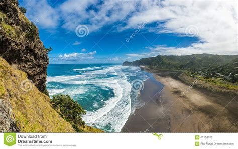 Piha Beach Stock Photo Image 61134013