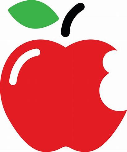 Bite Apple Sized Learning Clipart Cartoon Series