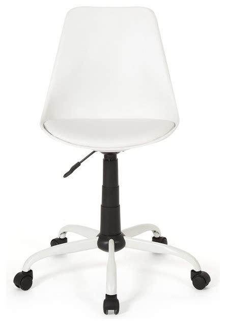 chaise bureau office depot touty chaise de bureau dactylo design blanche