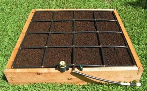 4x4 raised garden square foot garden kit with a 4x4