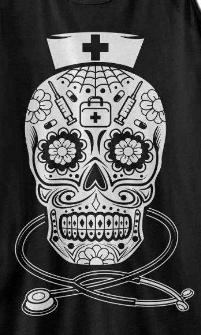 Sugar Skull Nurse   Nurse tattoo, Sugar skull tattoos