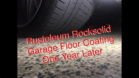 Rustoleum Rocksolid Garage Floor Coating   1 Year Later