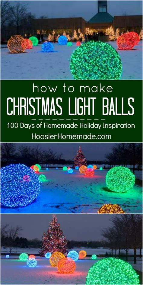 how to make christmas light balls holiday inspiration