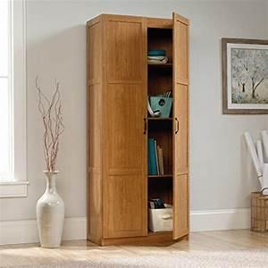 Sauder, Storage, Cabinet, With, 4, Adjustable, Shelves