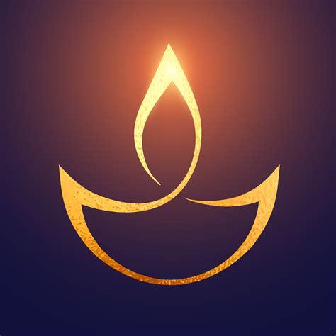 golden diwali artistic diya background