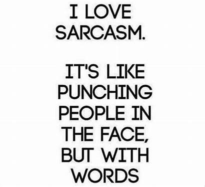Quotes Funny Sarcasm Sarcastic Words Punching Person