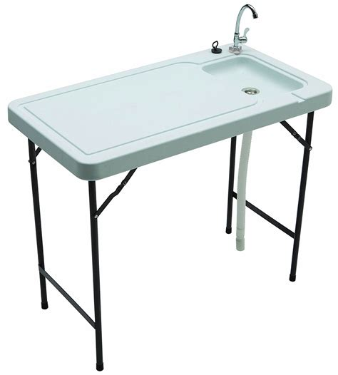 fish cleaning table with sink outdoor sink stainless steel faucet portable utility