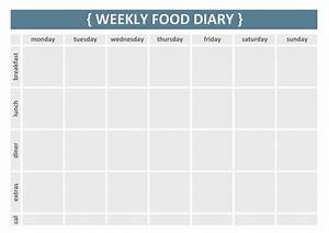 weekly food diary clipart clipart suggest With food diaries templates