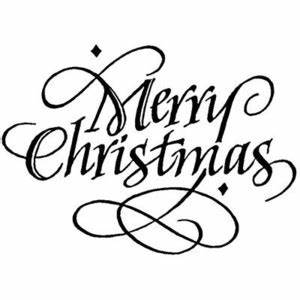 Merry Christmas Black And White Clipart | Free download on ...