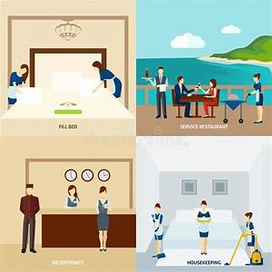 Hotel Staff Flat stock vector. Image of media ...