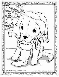 Cute Puppy Christmas Coloring Pages Pictures To Color ...