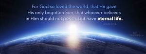 Download God So Loved The World - Christian Facebook Cover ...