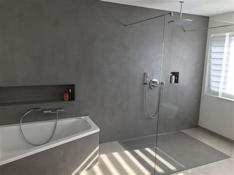 Beton Fliesen Bad by Fugenloses Bad Realisiert Mit Carameo Homesweethome
