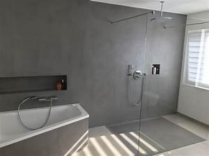 Beton Cire Dusche : fugenloses bad dusche realisiert mit carameo beton cir homesweethome fugenlos ~ Sanjose-hotels-ca.com Haus und Dekorationen