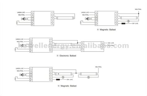 Wiring Diagram For T5 Conversion by T5 T8 Fluorescent Light Emergency Light Conversion Kit