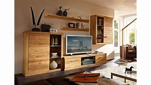 Wohnwand Massivholz Perfect Wohnwand Tecky Teilig Akazie