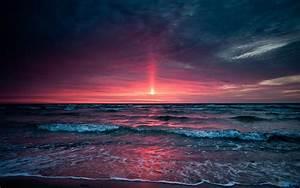 Beautiful Beach Sunset A Pondering Mind
