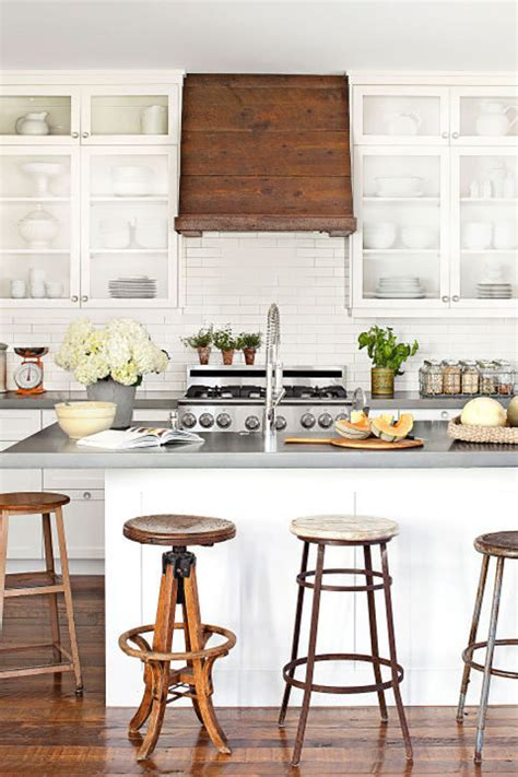 mismatched bar stools  enhance  kitchen
