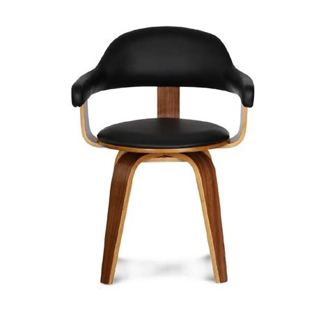 chaise design cuir noir chaise pivotante design noir zago store
