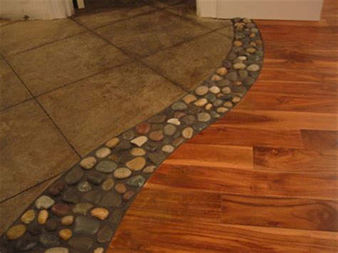 floors wood stone tile combined transition