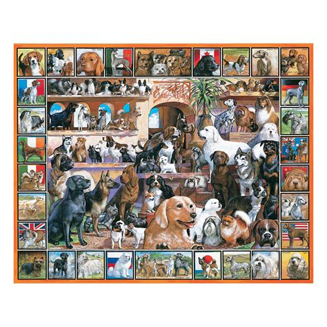 3.8 out of 5 stars 1,266. White Mountain Puzzles World of Dogs - 1000 Piece Jigsaw ...