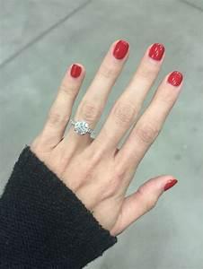 Engagement Ring Simple brilliant round 2 carat solitaire ...