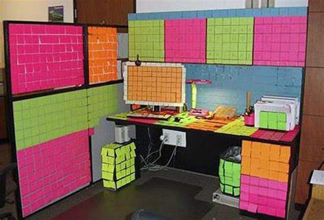 post it bureau office pranks for april fools day thrifty