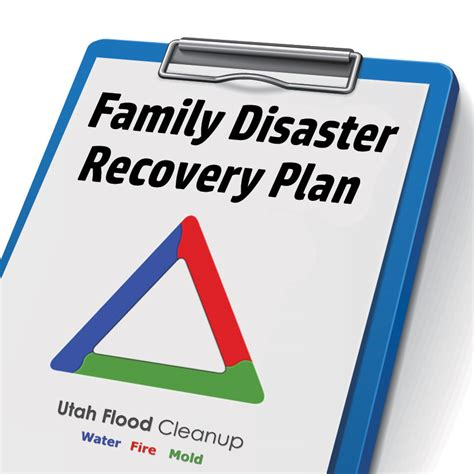 family disaster recovery plan utah flood cleanup