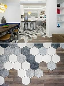 Carreaux De Ciment Hexagonaux : credence cuisine carrelage hexagonal ~ Melissatoandfro.com Idées de Décoration