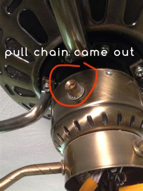 pull chain ceiling exhaust fan ceiling fan pull chain came out doityourself com