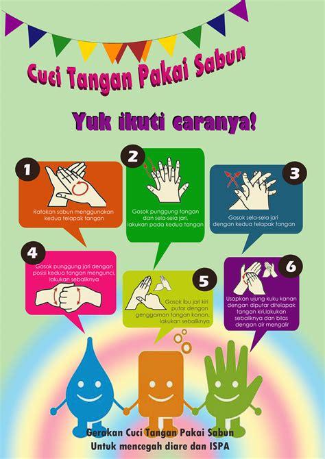 infografis cuci tangan pakai sabun