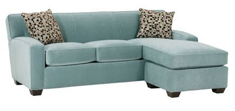 Small Fabric Sleeper Sectional Sofa With Reversible Chaise